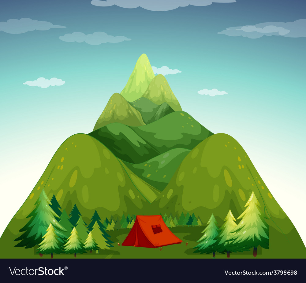 A camping tent vector   Price: 1 Credit (USD $1)