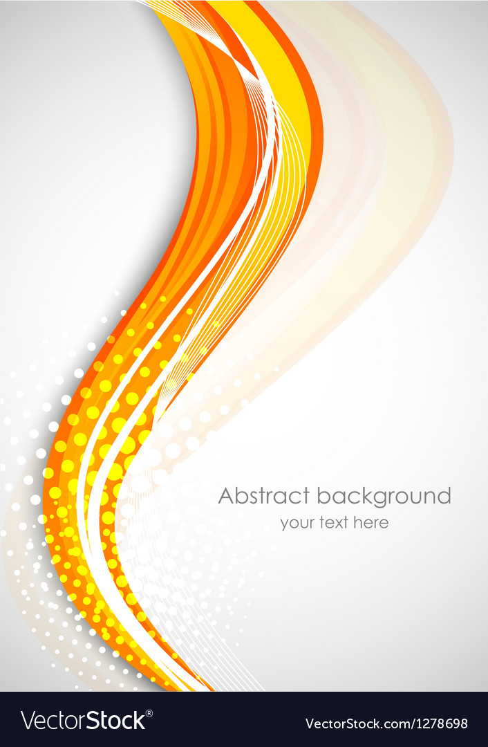 Abstract background with orange wave vector | Price: 1 Credit (USD $1)