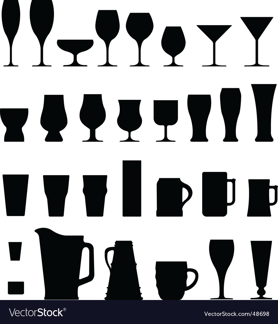 Alcohol glasses vector | Price: 1 Credit (USD $1)