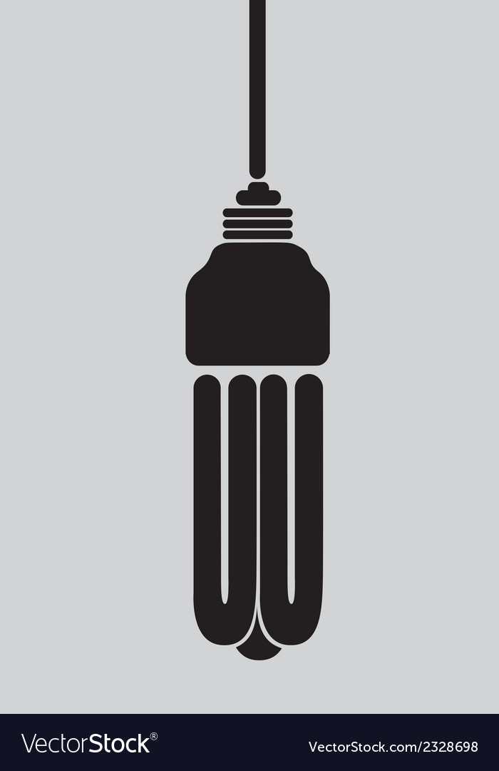 Black silhouette of ecological light bulb vector | Price: 1 Credit (USD $1)