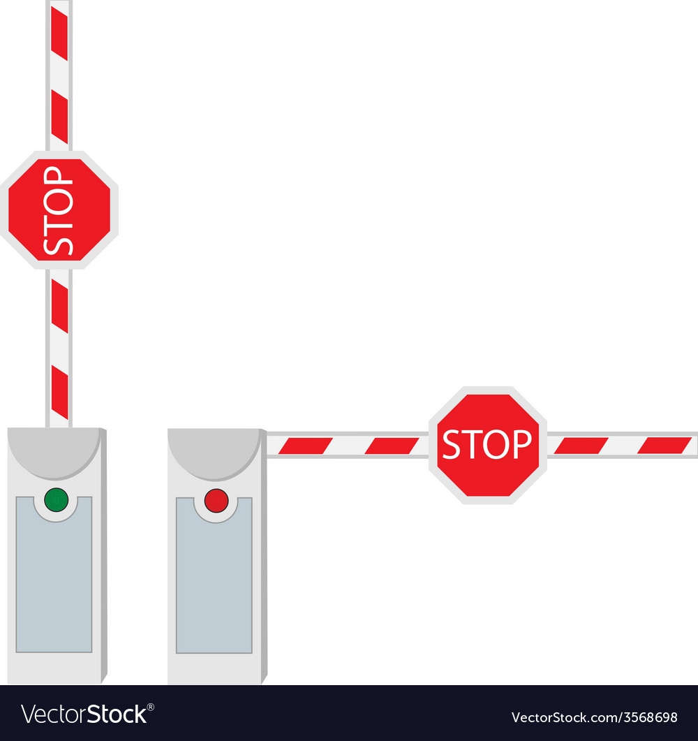 Closed and opened barrier vector | Price: 1 Credit (USD $1)