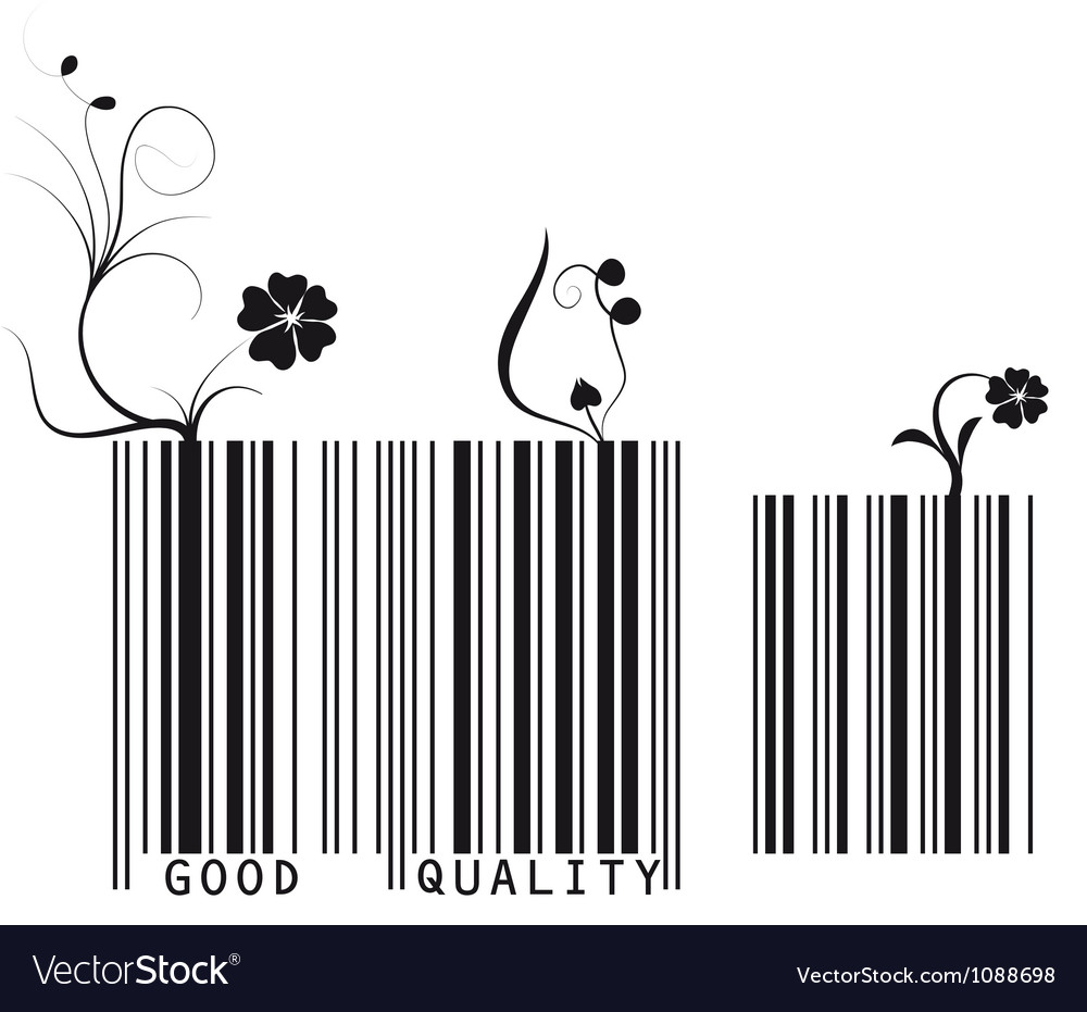Floral barcode vector | Price: 1 Credit (USD $1)