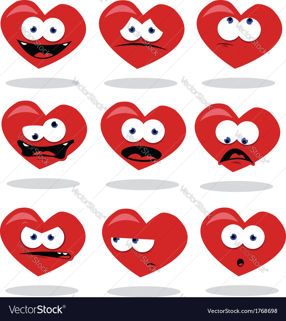 Funny heart vector | Price: 1 Credit (USD $1)