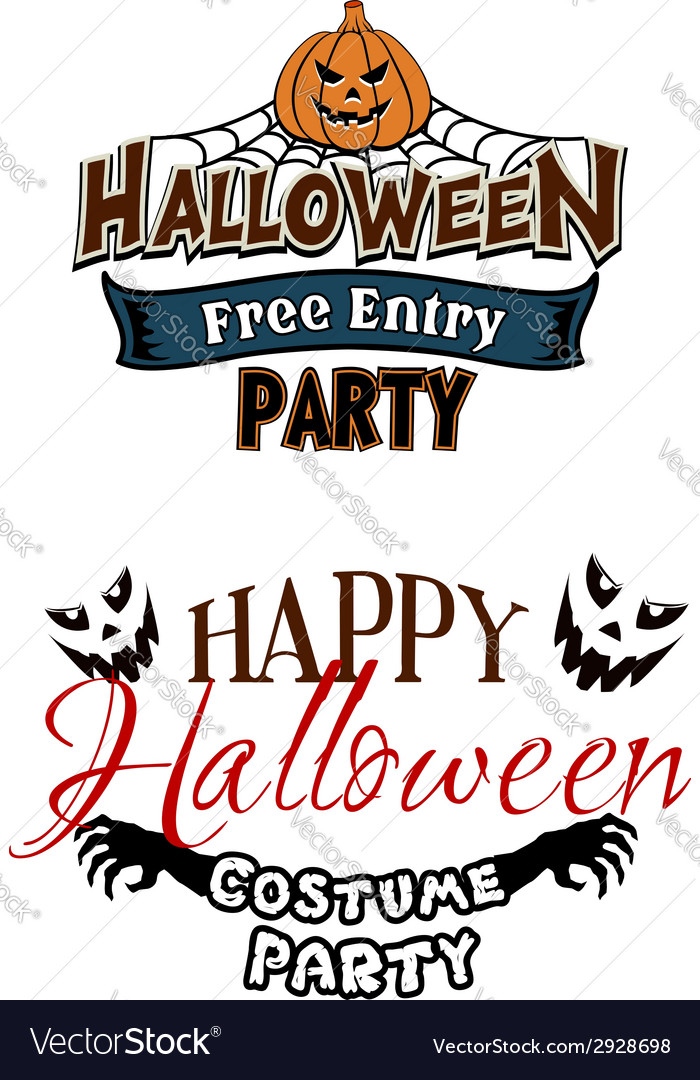 Halloween party themes with monsters vector | Price: 1 Credit (USD $1)