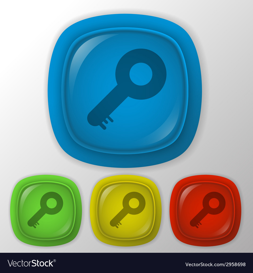 Key symbol icon vector | Price: 1 Credit (USD $1)