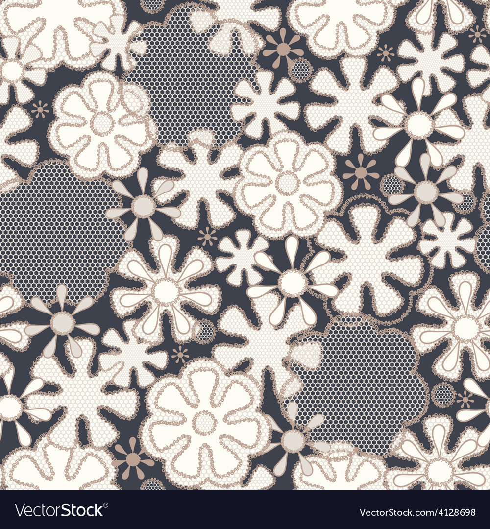 Seamless abstract lace floral pattern vector | Price: 1 Credit (USD $1)