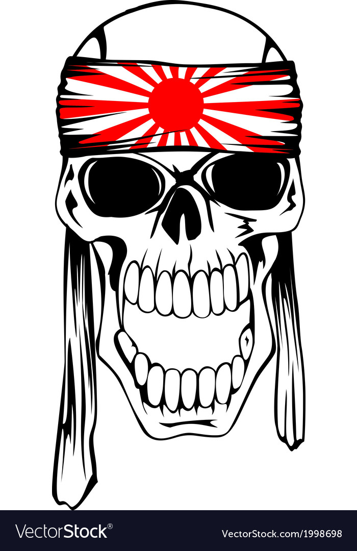 Skull with band 2 vector | Price: 1 Credit (USD $1)