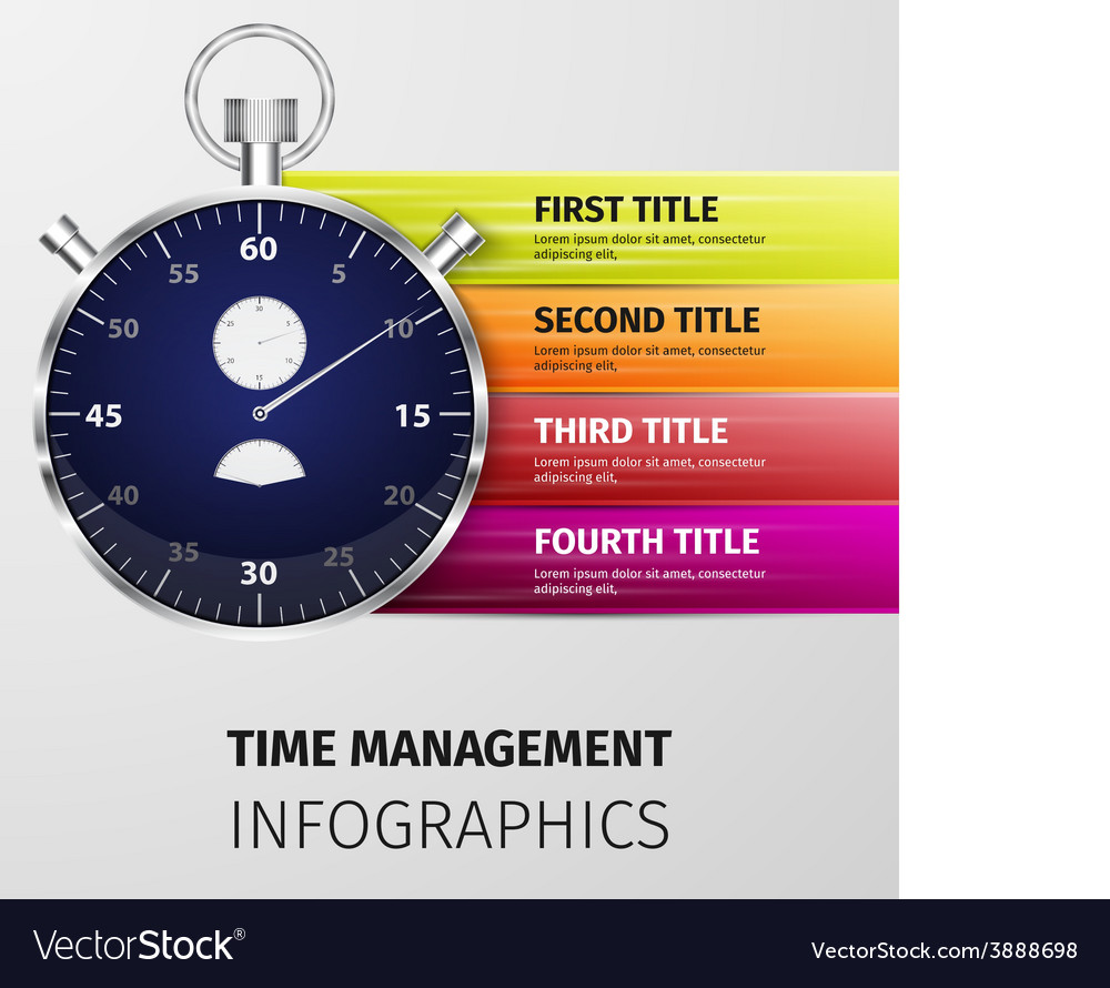 Time management infographics vector   Price: 1 Credit (USD $1)