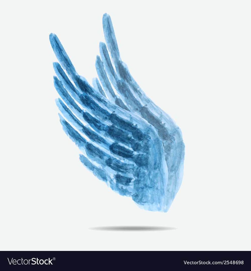 Watercolor wings vector | Price: 1 Credit (USD $1)