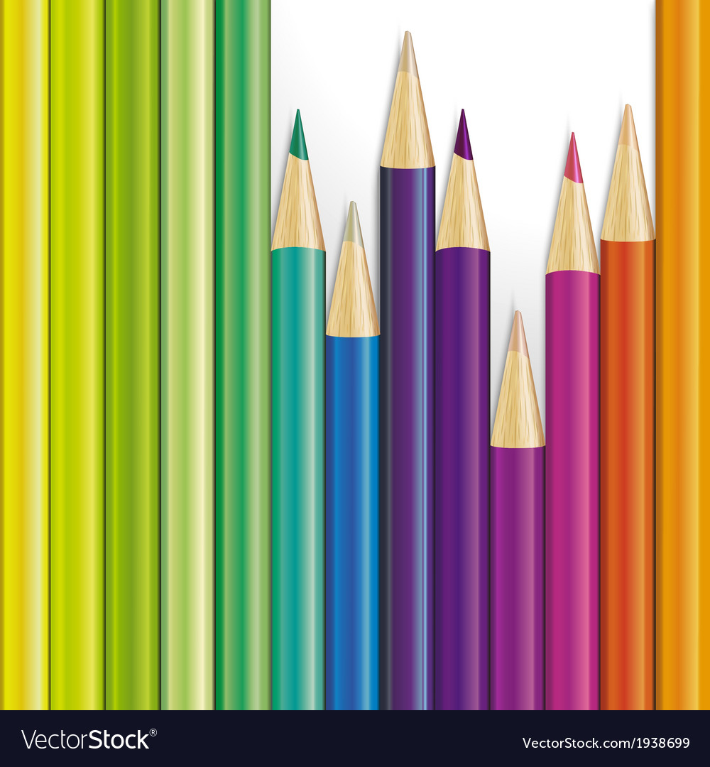 Background of colored pencils vector | Price: 1 Credit (USD $1)