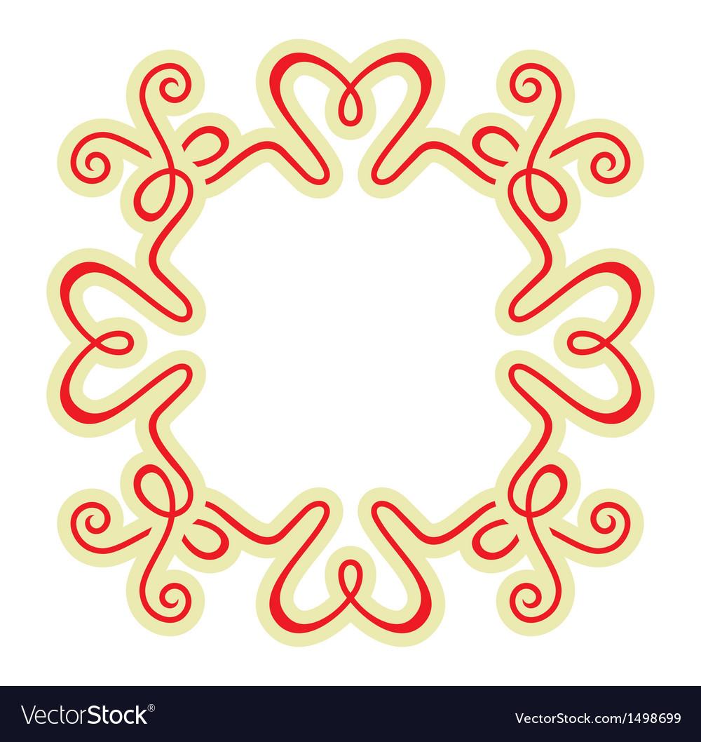 Calligraphy ornamental decorative frame vector   Price: 1 Credit (USD $1)
