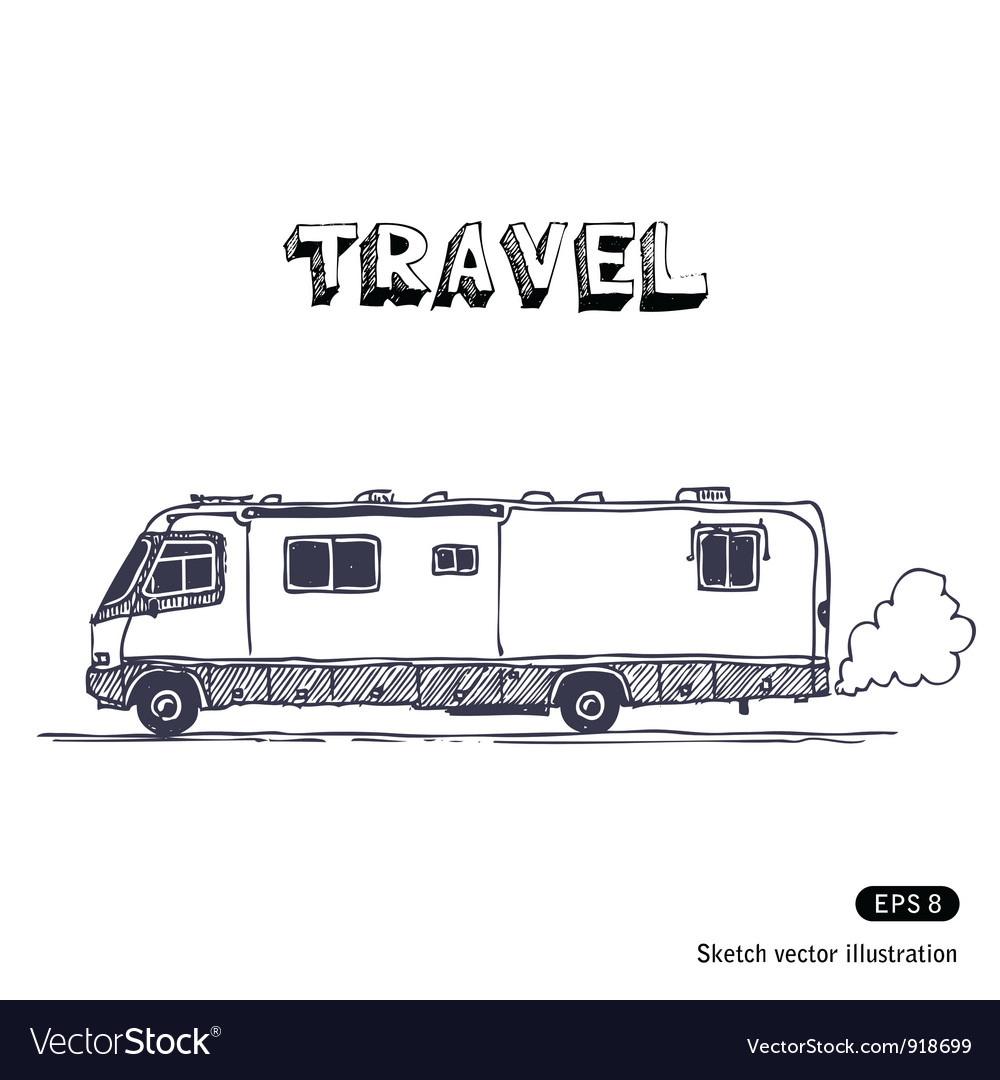 Camper vector | Price: 1 Credit (USD $1)