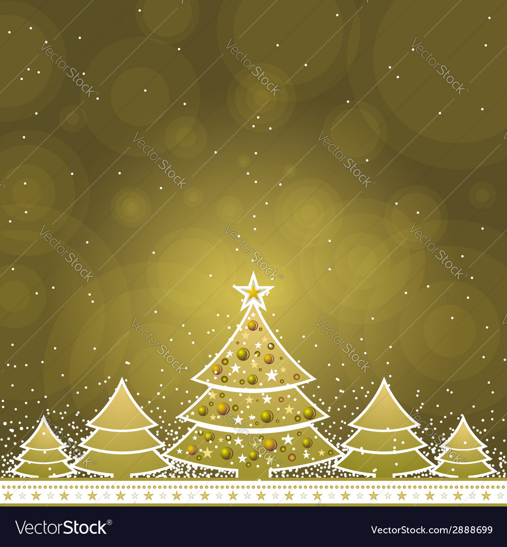 Christmas card with forest of pine vector   Price: 1 Credit (USD $1)