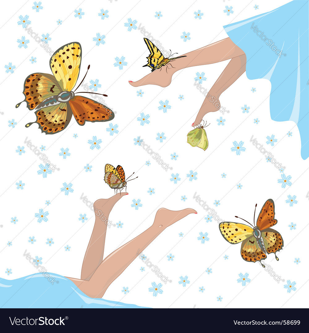 Health lightness and butterflies vector | Price: 1 Credit (USD $1)