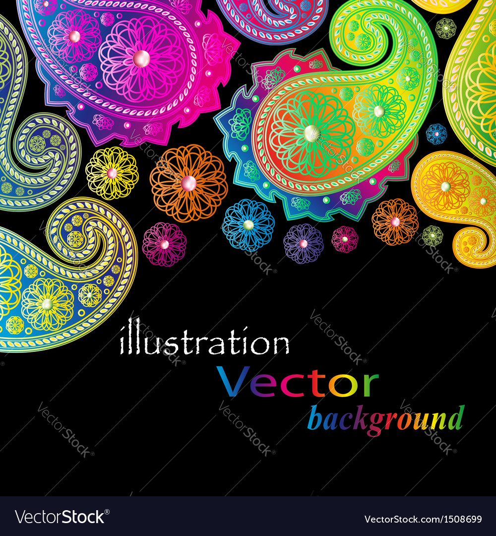 Paisley design vector | Price: 1 Credit (USD $1)