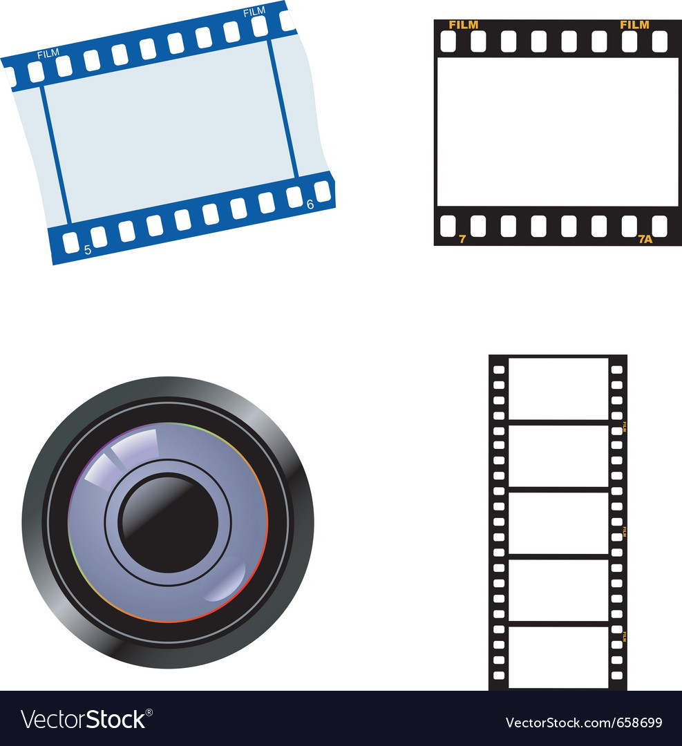 Photographic and cinematic objects vector | Price: 1 Credit (USD $1)