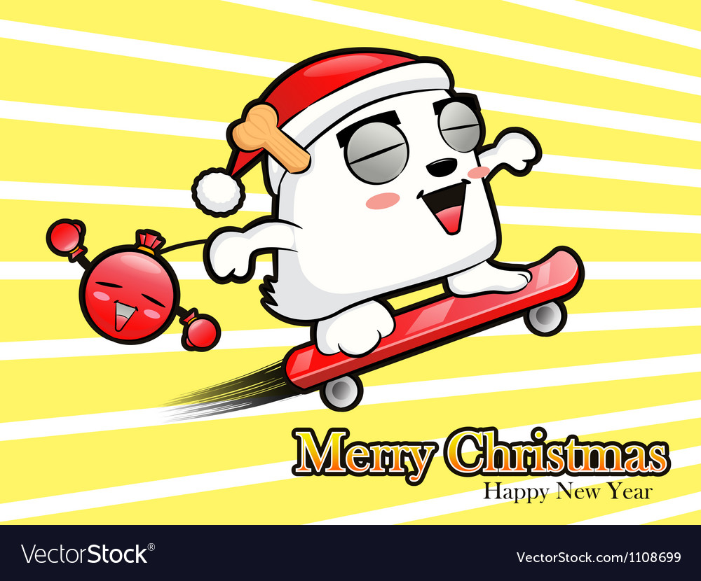 Skateboarding riding santa claus and bomb vector | Price: 1 Credit (USD $1)
