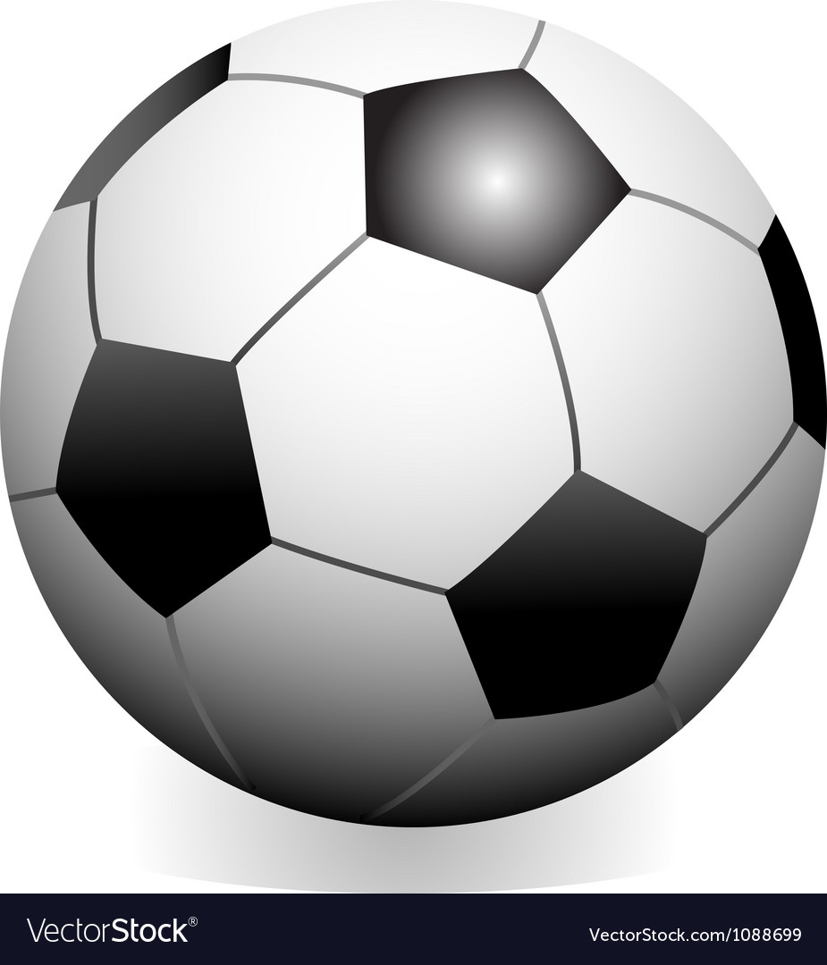 Soccer game ball vector | Price: 1 Credit (USD $1)