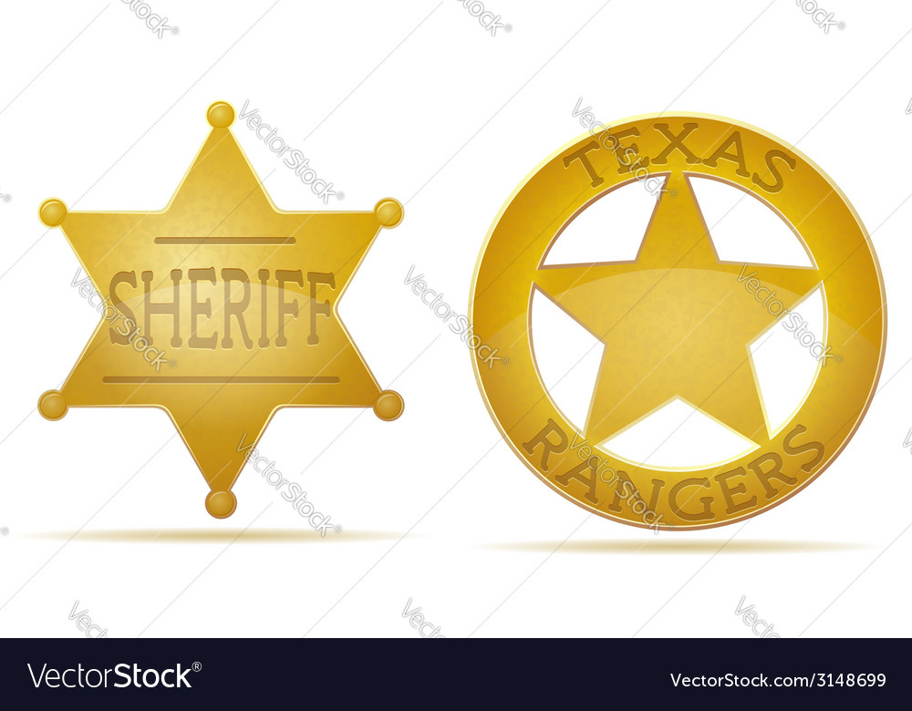Star sheriff and ranger vector | Price: 1 Credit (USD $1)