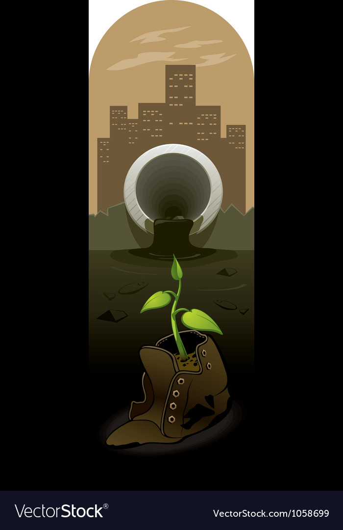Survivor in a polluted environment vector | Price: 3 Credit (USD $3)