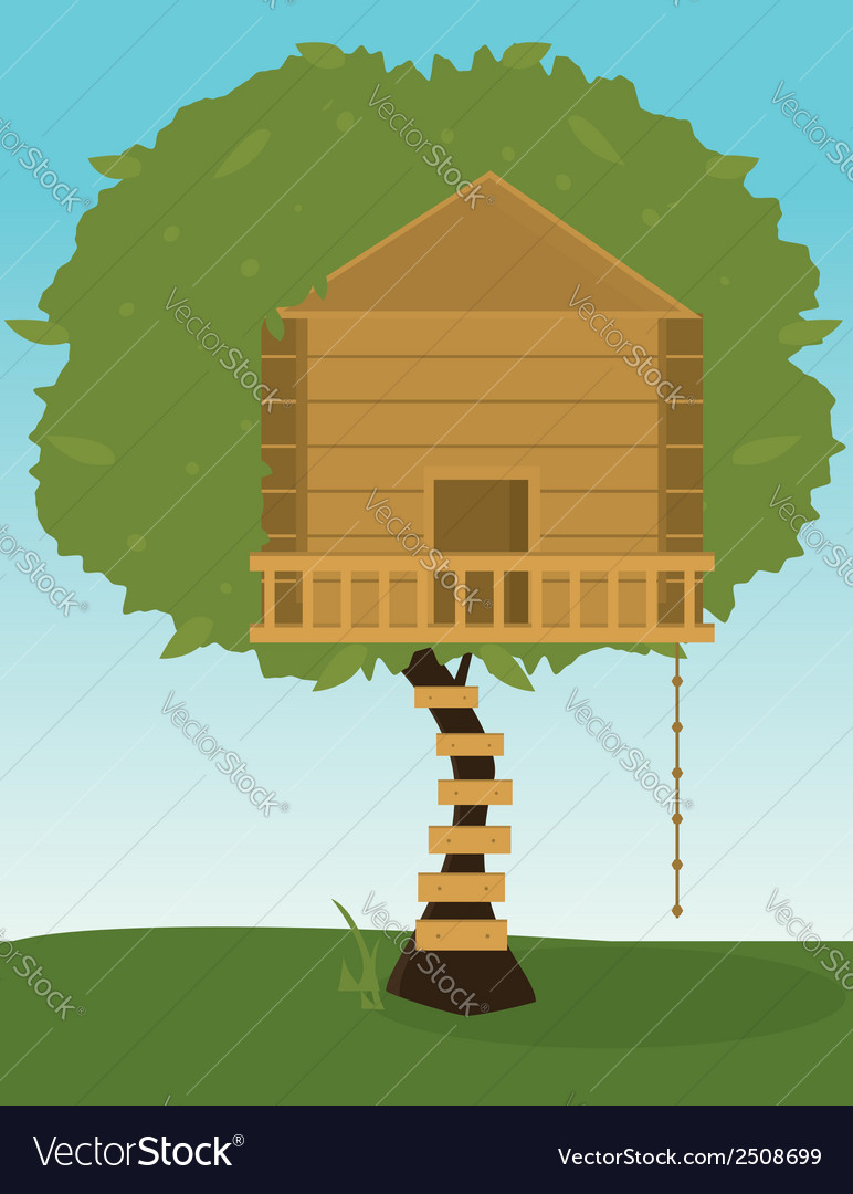 Tree house vector | Price: 1 Credit (USD $1)