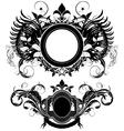 Set of ornamental shields vector