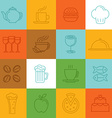 Food linear icons and signs vector