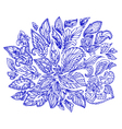 Doodle flower abstract2 vector
