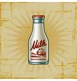 Retro milk bottle vector