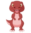 Cute dinosaur cartoon vector