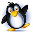 Happy little penguin cartoon vector