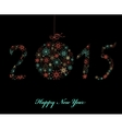 Happy new year greeting card 2015 vector