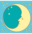 Crescent moon profile vector