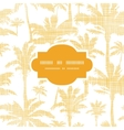 Palm trees golden textile frame seamless pattern vector