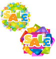 Bright sale posters set vector