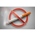 No smoking sign with a realistic cigarette vector