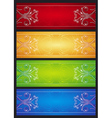 Modern banners with floral ornament illus vector