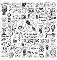 Thinking psychology - doodles set vector
