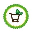 Eco shopping design vector