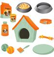 Dog care icon set vector