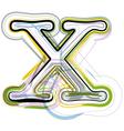 Organic font letter x vector