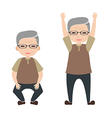 Old people exercise vector