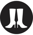 Women boots icon vector