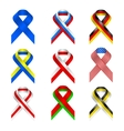 Retro ribbon russia russian scroll stylized symbol vector