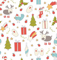 Seamless pattern with christmas elements vector
