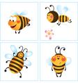 Cartoon bumble bees vector