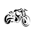 Motorbike on white background vector