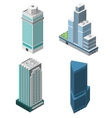 Skyscrapers offices set vector