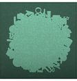 Back to school on empty realistic green vector