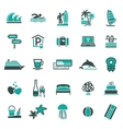 Signs vacation travel recreation third vector